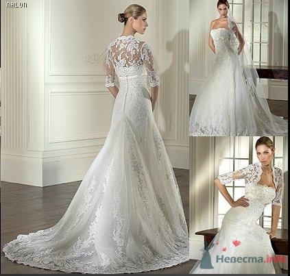 Свадебное платье с болеро фото