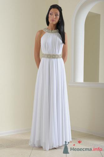 модель платья в пол из трикотажа