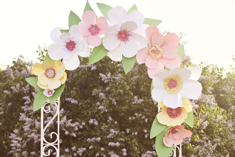 Арка из цветов своими руками фото