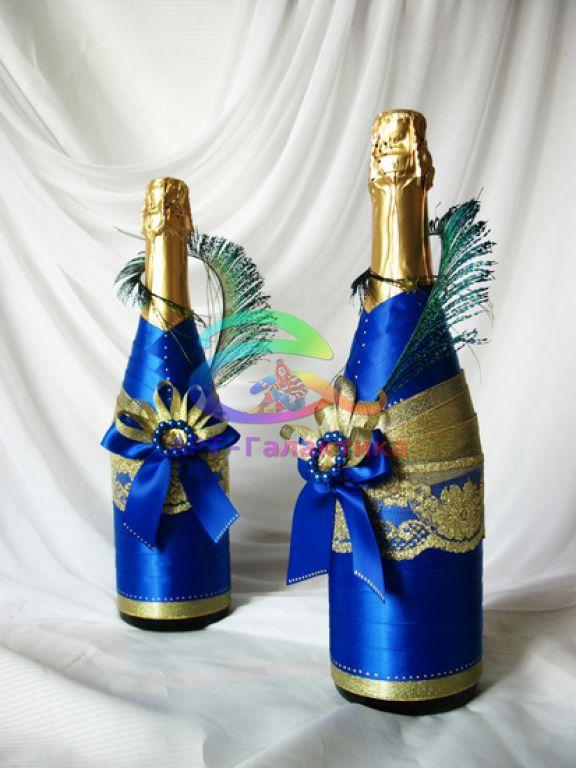 Оформление бутылок на новый год своими руками фото