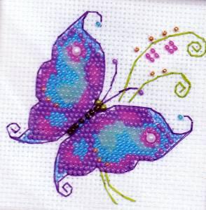 Чудесная бабочка набор для вышивания Риолис Riolis.