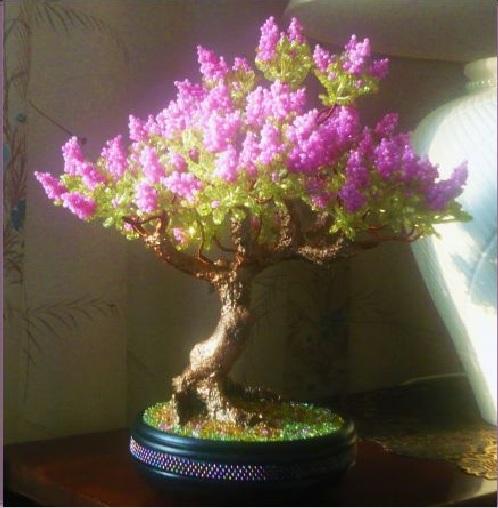 деревья из бисера фото схемы