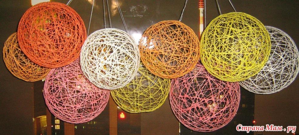 Как сделать шары из нитей своими руками