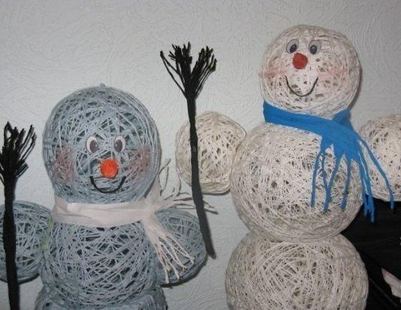 Снеговик из пластилина мастер класса - Master class
