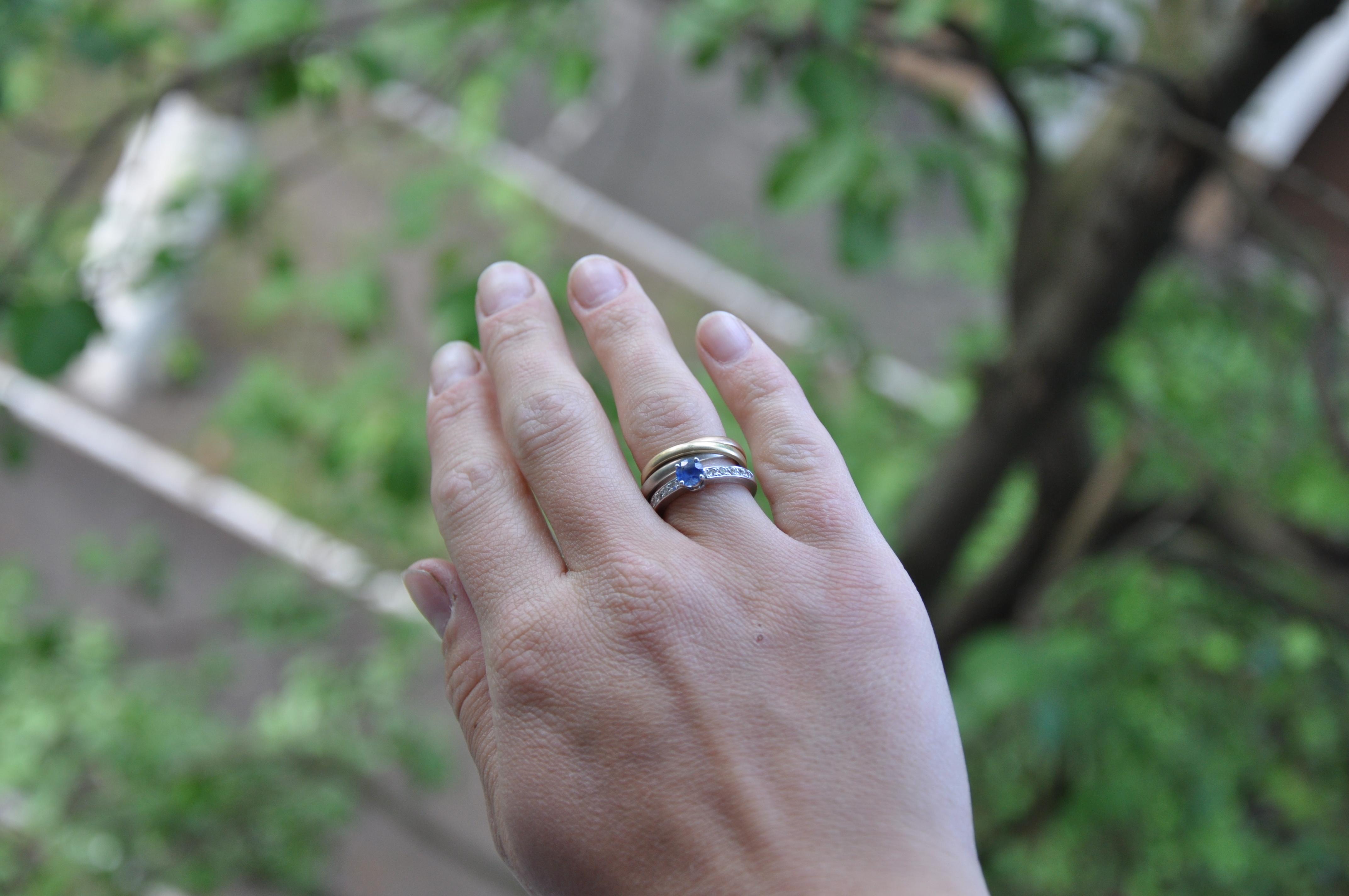 Кольца из белого золота фото 1