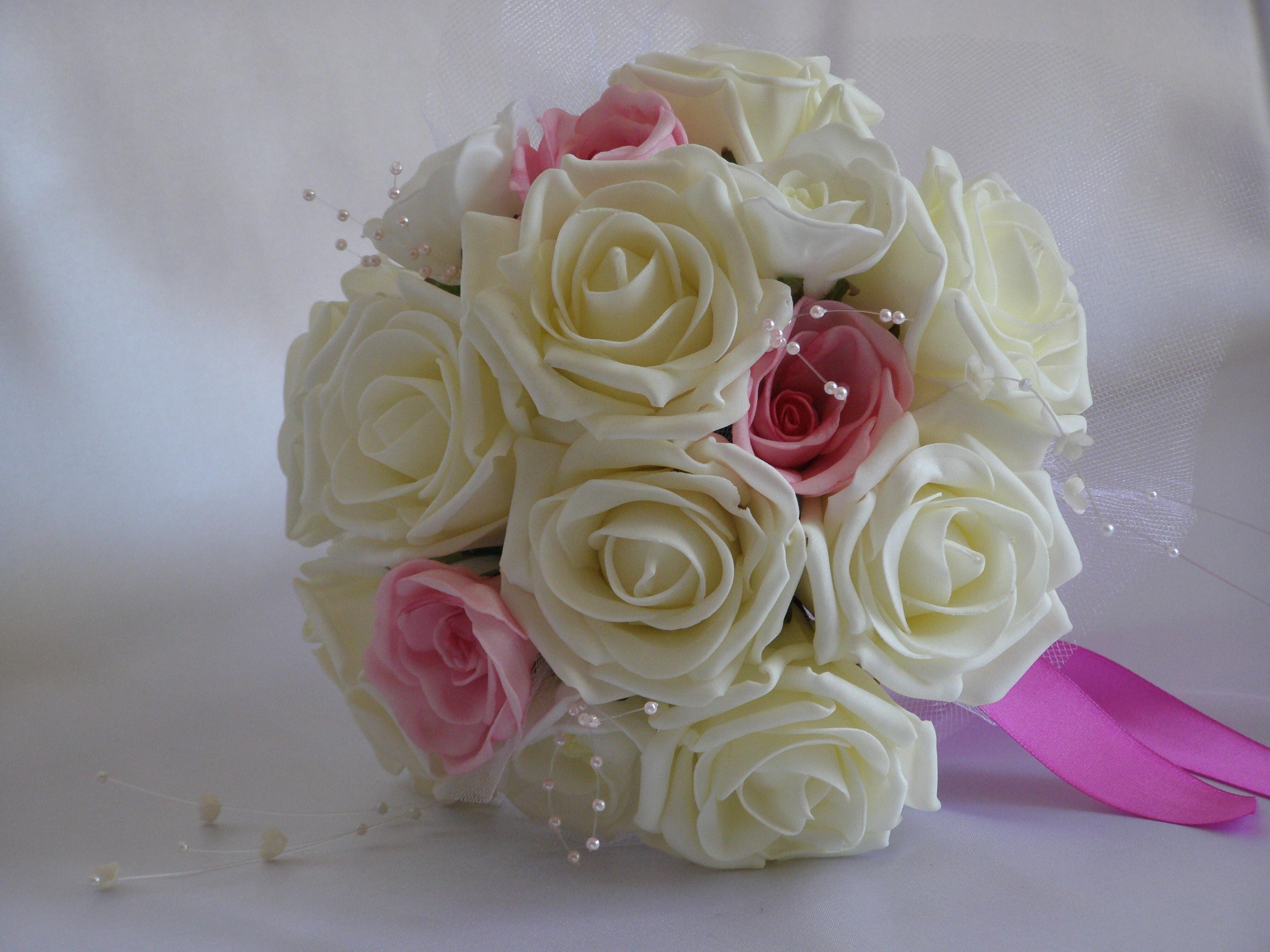 Букет невесты своими руками из искусственных цветов мк