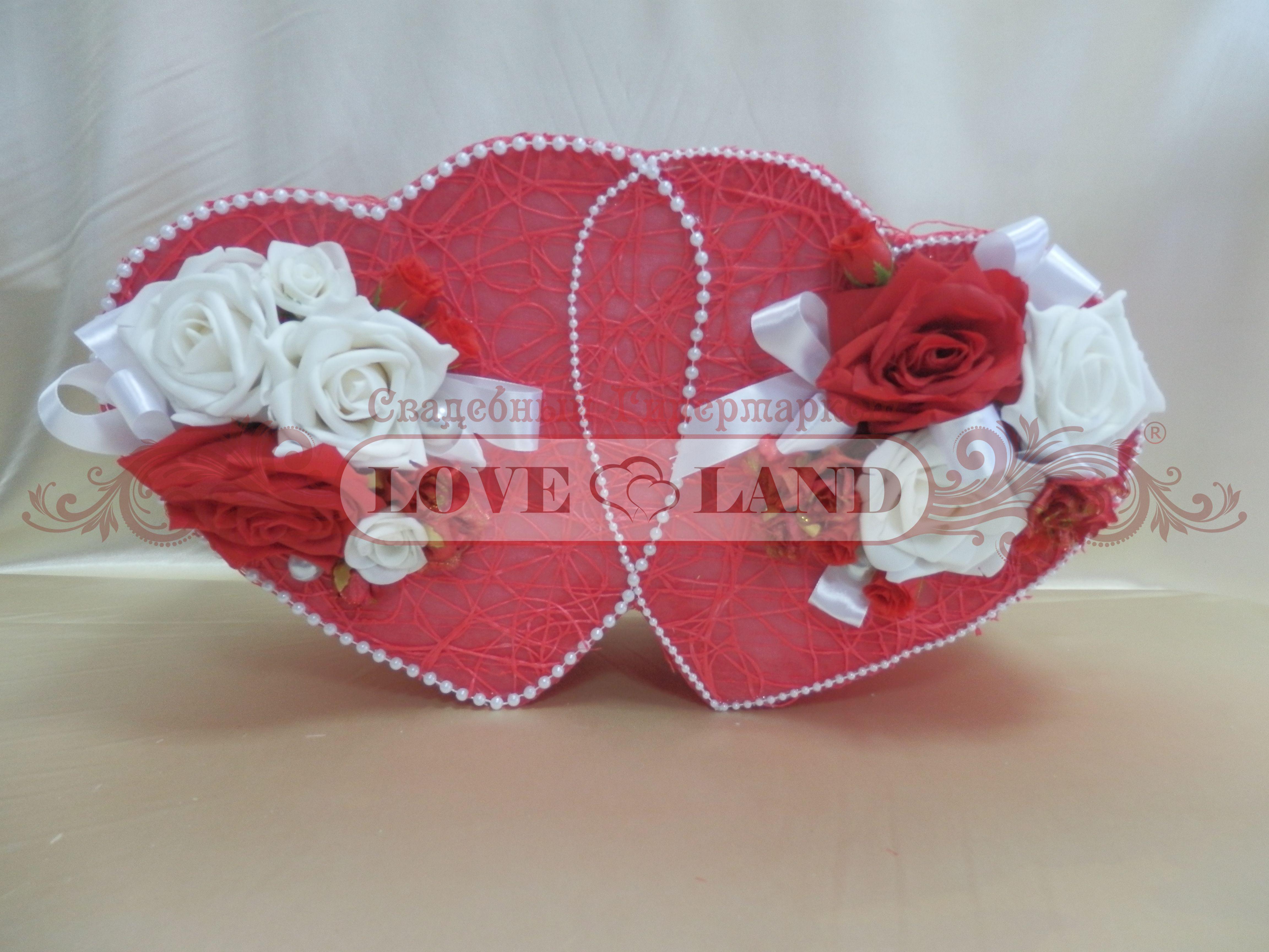 Свадебная коробка сердце своими руками