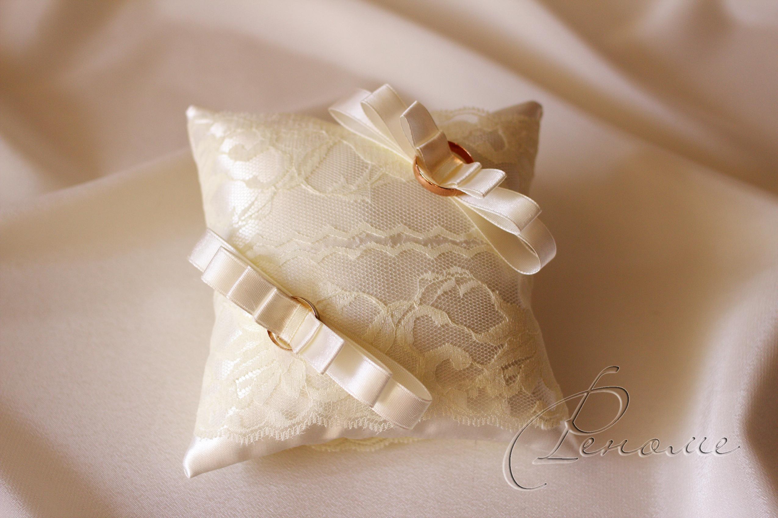 Как сделать подушечки для колец на свадьбу