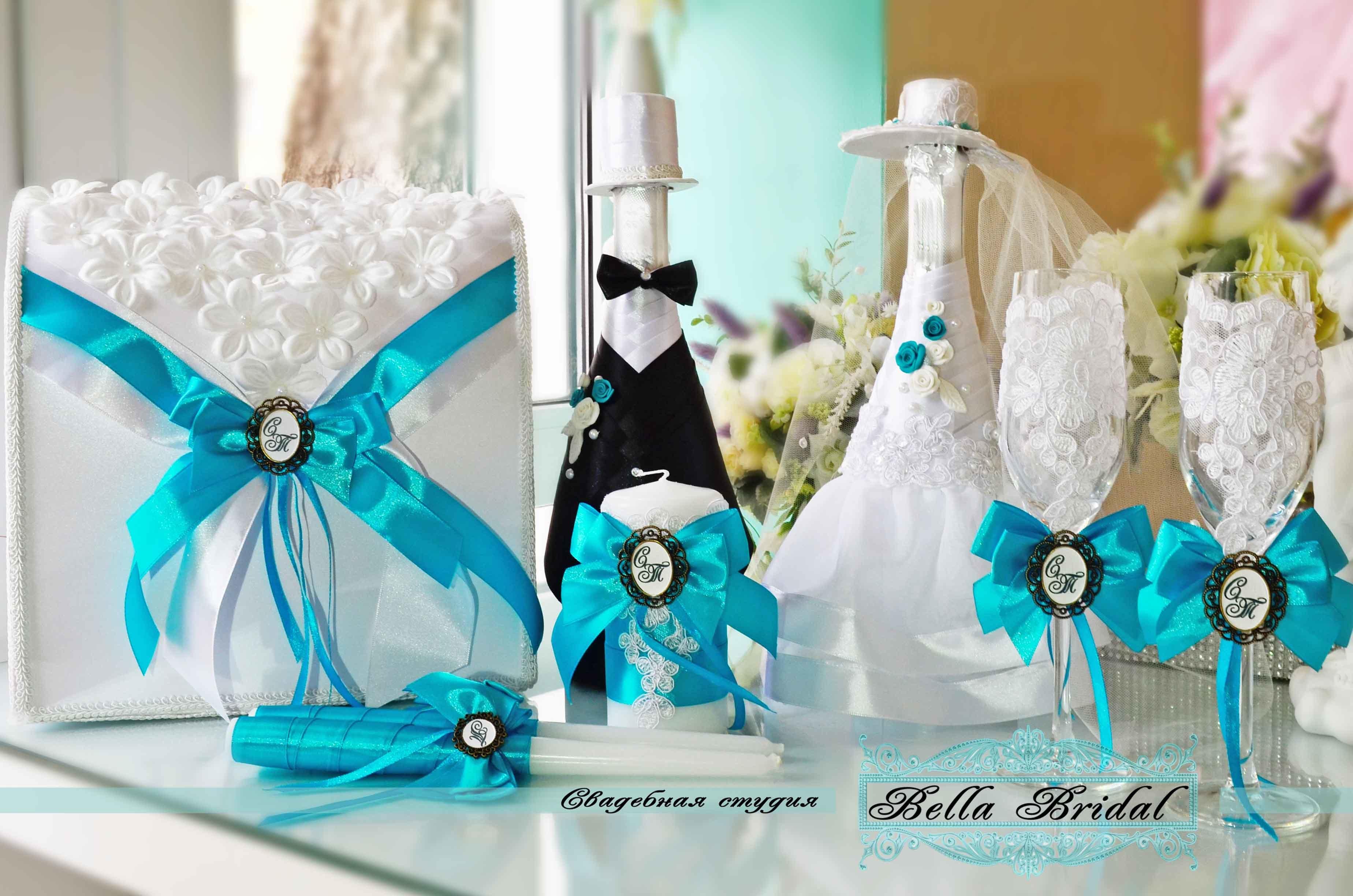 Оформление аксессуаров на свадьбу
