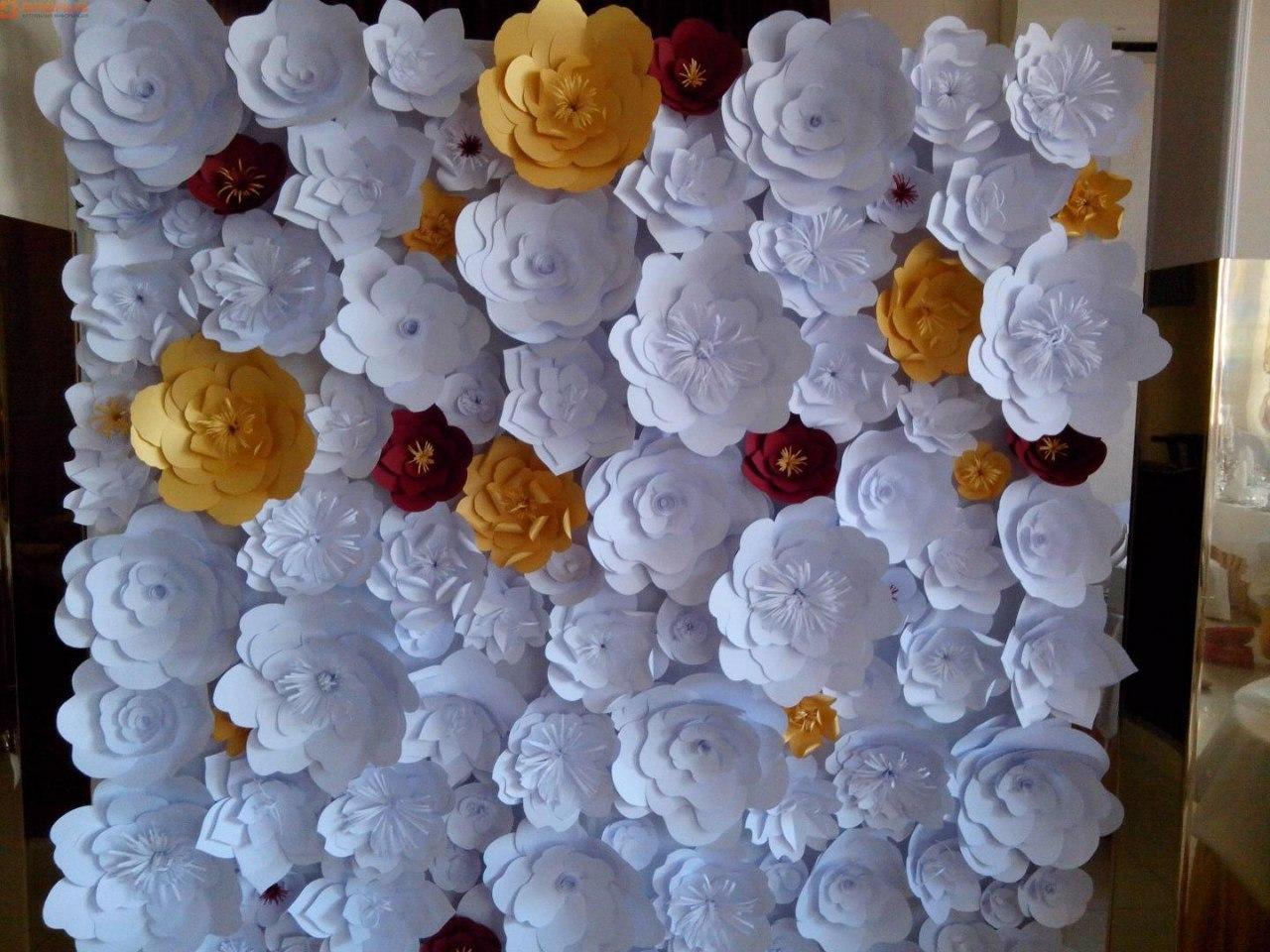 Объемные цветы из бумаги своими руками для украшения детского сада