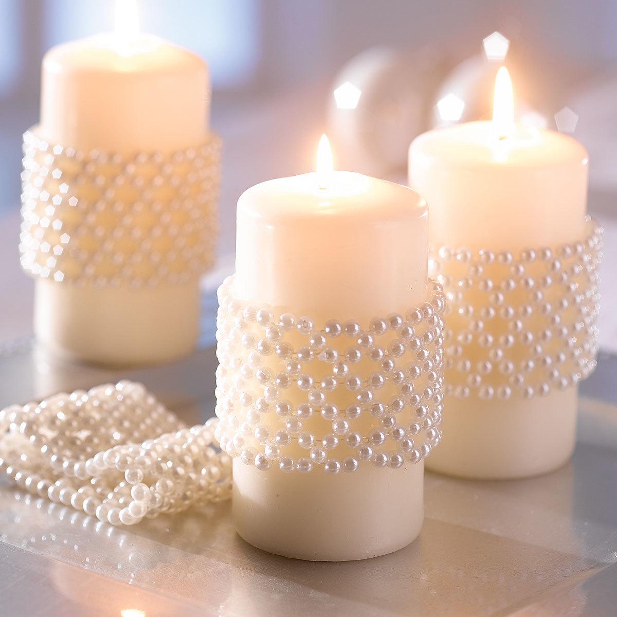 Украшение свечей своими руками на свадьбу