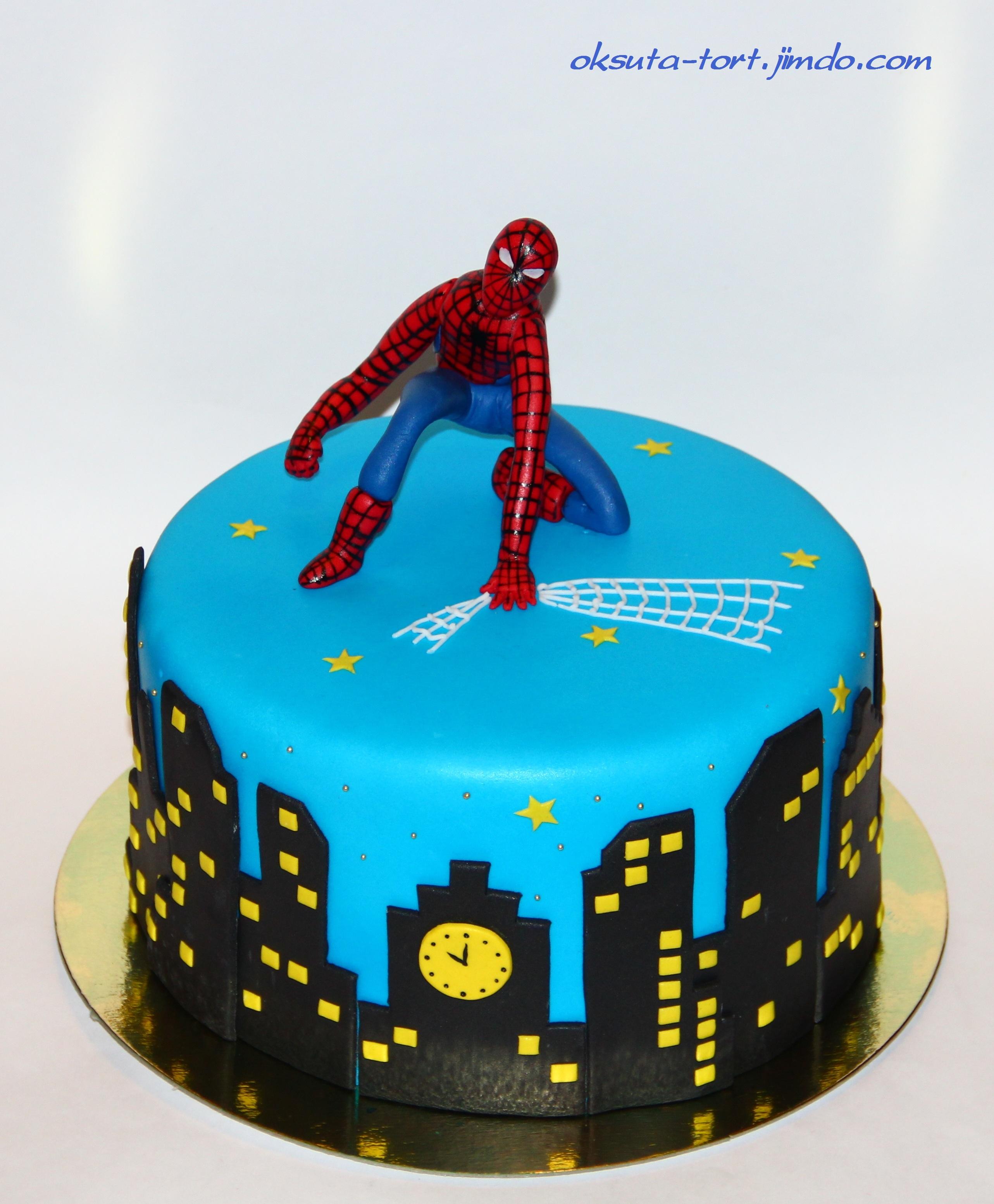 Пошагово торт человек паук