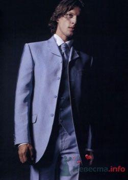 Синий костюм для жениха. - фото 162 simik