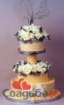 Желтый свадебный торт, украшенный цветами. - фото 21 simik
