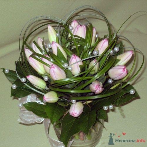 Букет невесты из розовых тюльпанов. - фото 36 simik