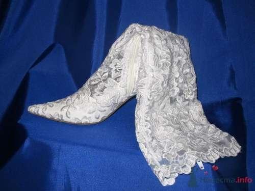 Белые кружевные свадебные сапоги - фото 72 simik