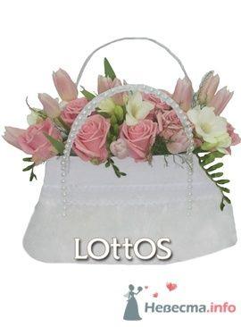 Букет невесты из розовых роз и тюльпанов в сумочке. - фото 63 Ночь'нушка