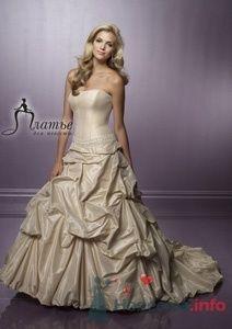 Свадебное платье цвета кофе с молоком с простым корсетом и - фото 157 Невеста01