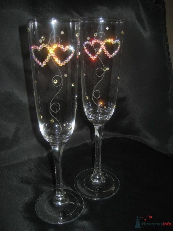 """Свадебные бокалы """"Влюбленные сердца"""" - фото 66803 """"Свадебный Бум"""" - свадебные принадлежности"""