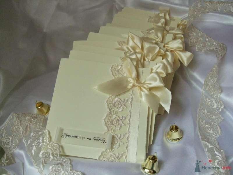 """Приглашение на свадьбу цвета айвори. Авторская работа - фото 66811 """"Свадебный Бум"""" - свадебные принадлежности"""