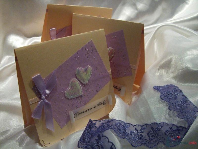 """Приглашение на свадьбу сиреневое - фото 66814 """"Свадебный Бум"""" - свадебные принадлежности"""