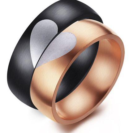 Кольца для влюбленных половинки сердца