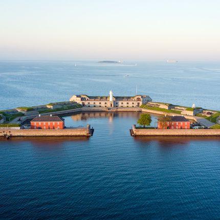 Свадьба в морском форте на острове с видом на Копенгаген