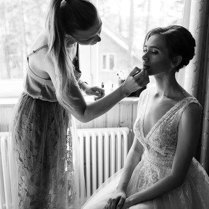 Репетиция образа невесты (макияж + причёска)