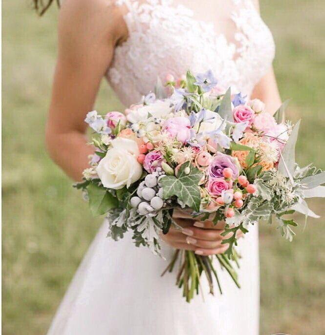 Букет невесты асимметричной формы