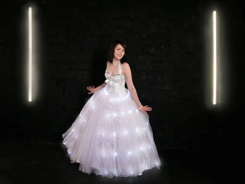 Светодиодная юбка для невесты