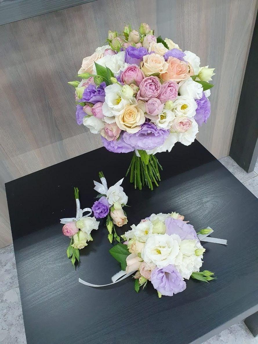 Букет невесты с розой