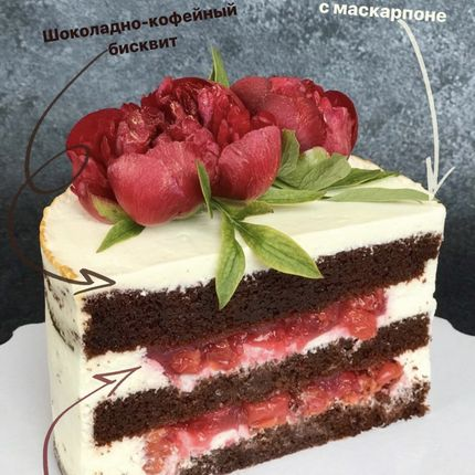 Торт Шоколад-Вишня, 1 кг