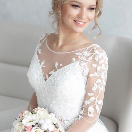 Букет невесты с хлопком