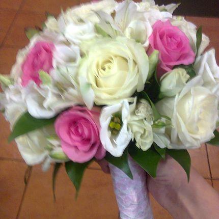 Букет невесты нежно-розовый