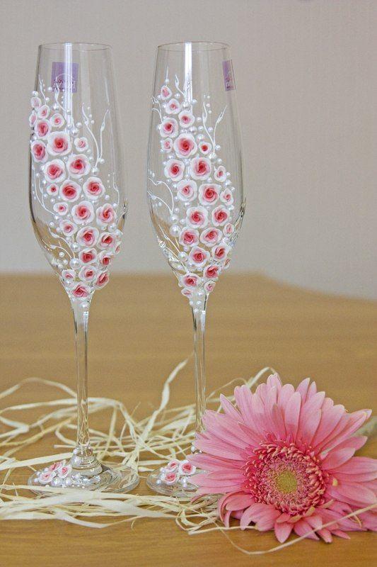 Бокалы «Красная роза» - фото 880529 Wedcraft - свадебный декор