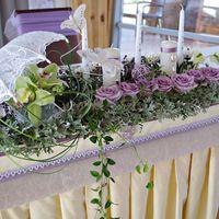 Фрагмент декора свадебного банкета.