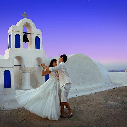 Символическая свадебная церемония в Афинах