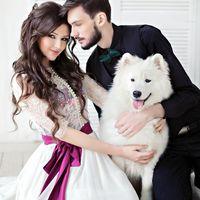 Животные на свадьбе -это необычно и весело. Особенно, когда сами  животные необычные. В данном проекте участвовала парочка самоедов)