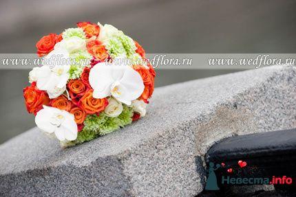 Фото 90119 в коллекции Букет невесты, подружек, и бутоньерка жениха!