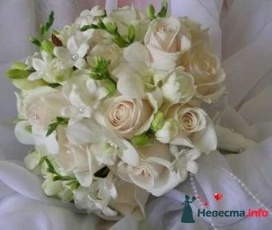 Фото 90128 в коллекции Букет невесты, подружек, и бутоньерка жениха! - Невеста Настенька