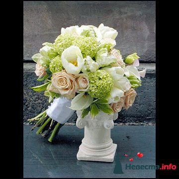 Фото 90135 в коллекции Букет невесты, подружек, и бутоньерка жениха!