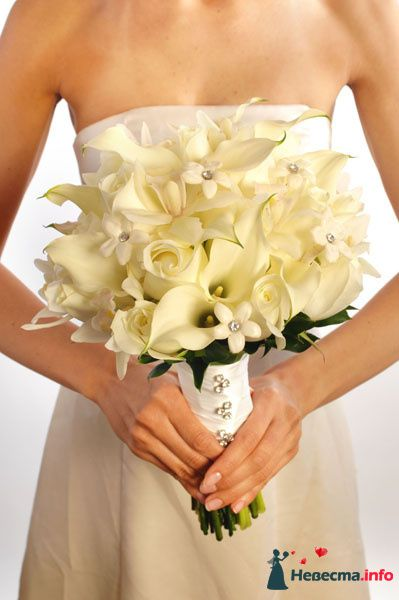 Фото 90141 в коллекции Букет невесты, подружек, и бутоньерка жениха! - Невеста Настенька
