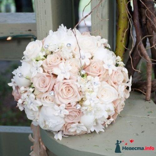 Фото 90157 в коллекции Букет невесты, подружек, и бутоньерка жениха! - Невеста Настенька