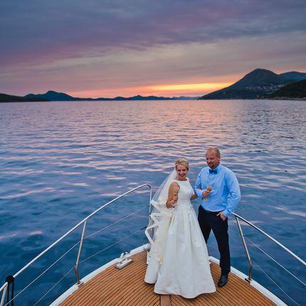 Символическая церемония для двоих на яхте Хорватия