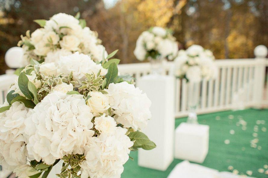 Выездная регистрация, арка, гортенщия, белый, розы, свадебная флористика - фото 10222398 Flower vibes - мастерская флористики и декора