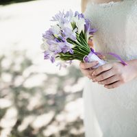 Маленький симпатичный букет невесты