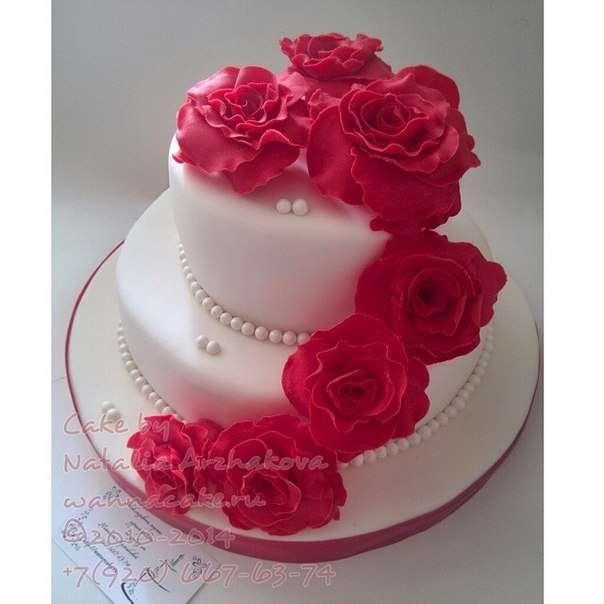 Свадебный тортик для небольшой свадьбы. - фото 3623475 Свадебные торты от Наталии Аржаковой