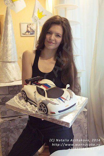 Я и торт Ferrari - фото 3623527 Свадебные торты от Наталии Аржаковой
