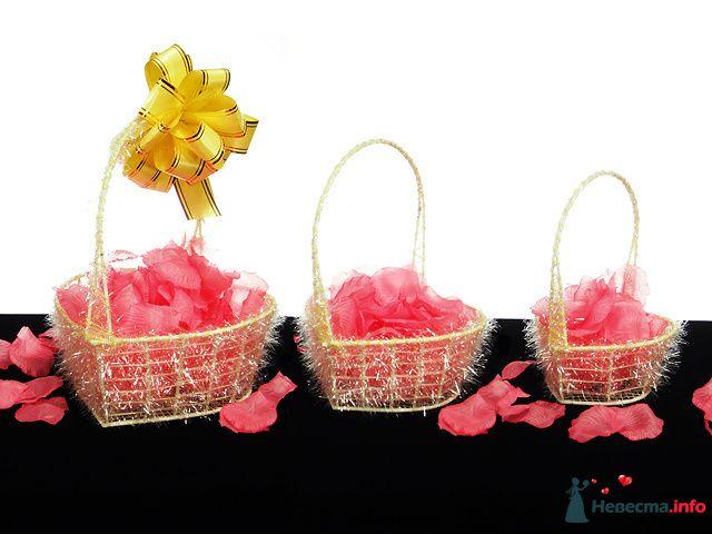 """Декоротивные корзиночки для лепестков  - фото 84263 """"Свадебный сундучок"""" - свадебные аксессуары"""