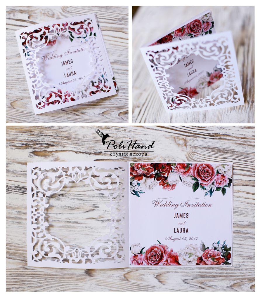 Ажурные свадебные приглашения, цена за 1 шт